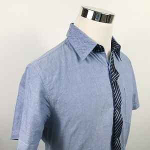 Guess Medium Blue Chambray Embroidered Spellout